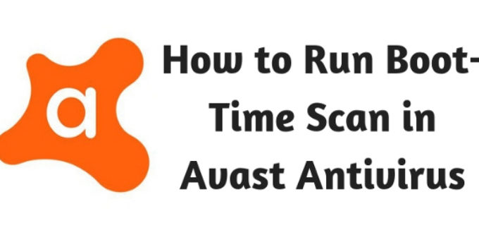how to do boot scan with avast