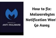 How to Fix: Malwarebytes Notification Won't Go Away