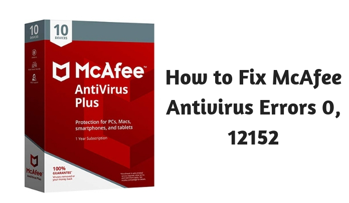 How to Fix McAfee Antivirus Errors 0 12152