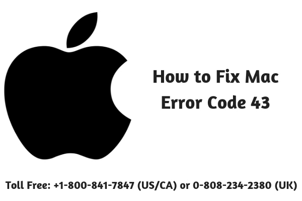 How to Fix Mac Error Code 43