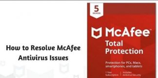 How to Resolve McAfee Antivirus Issues