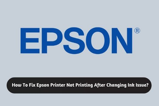 How To Fix Epson Printer Not Printing After Changing Ink Issue?